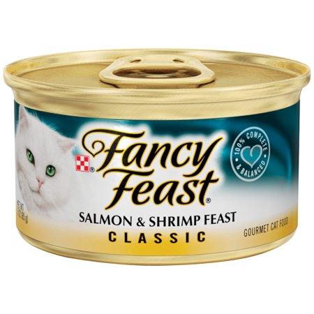 (24 Pack) Fancy Feast Classic Salmon & Shrimp Feast Wet Cat Food, 3 oz.