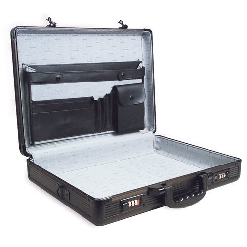 roadpro spc 941g black 17 5 x 4 x 13 aluminum briefcase multi