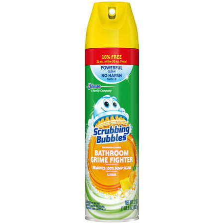 Scrubbing Bubbles Bathroom Grime Fighter Aerosol, Citrus, 22