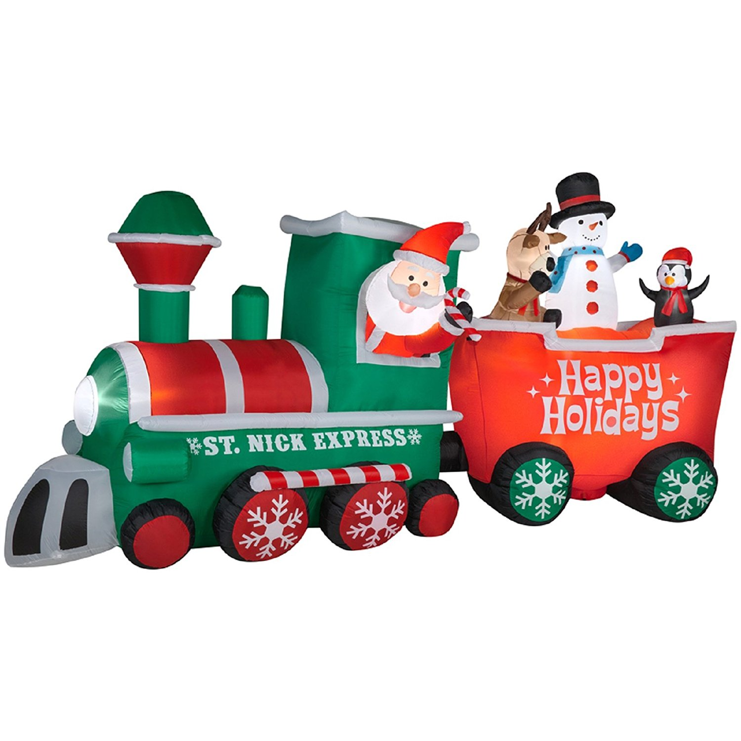 Gemmy 15.5 FT ST. Nick Express Train with Conductor