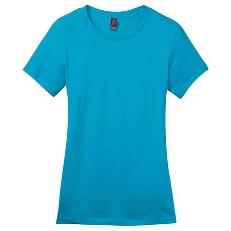 District Made Women's Perfect Weight Crewneck T-Shirt_Bright Turquoise_X-Large Bright Green Apparel