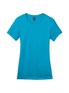fe64a8e4c529 Product Image District Made Women's Perfect Weight Crewneck T-Shirt_Bright  Turquoise_X-Large