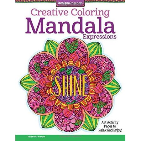 Creative Coloring Mandala Expressions: Art Activity Pages to Relax and Enjoy! - image 1 de 1