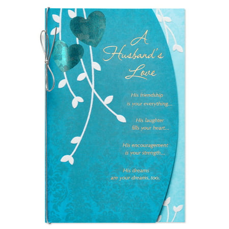 American Greetings Special Anniversary Card for Husband with (Special Silver Card)