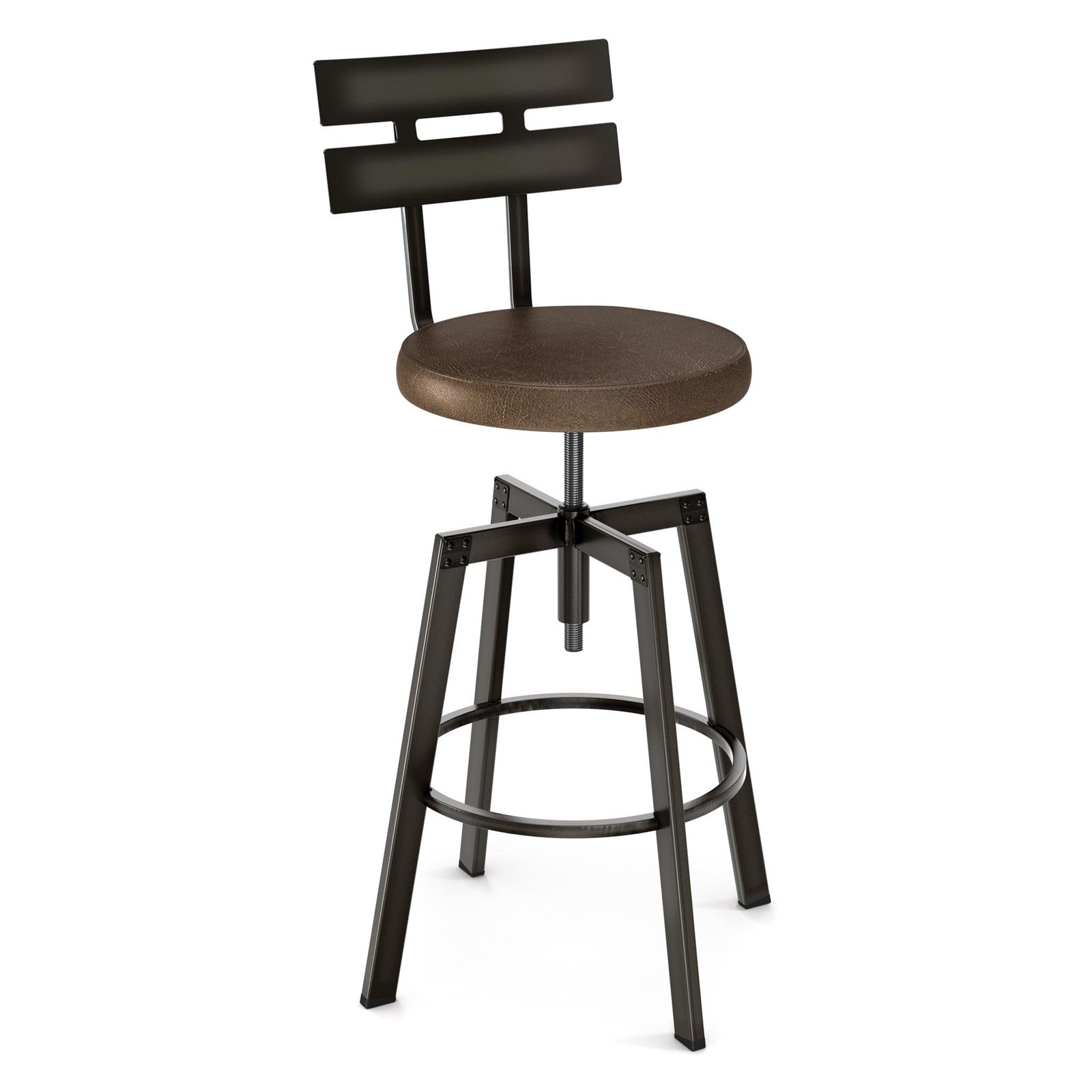 Amisco Knowlton Round Adjustable Barstool