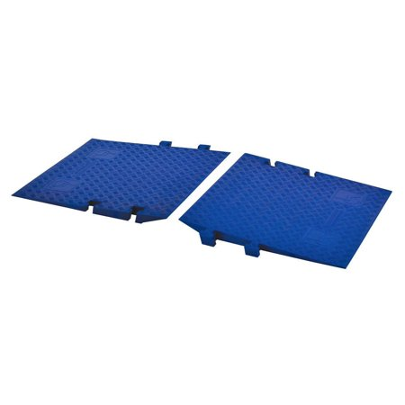 Cross-Guard CPRP-3-BLU Polyurethane ADA Compliant Ramp for Linebacker 3 Channel Heavy Duty Cable Protectors