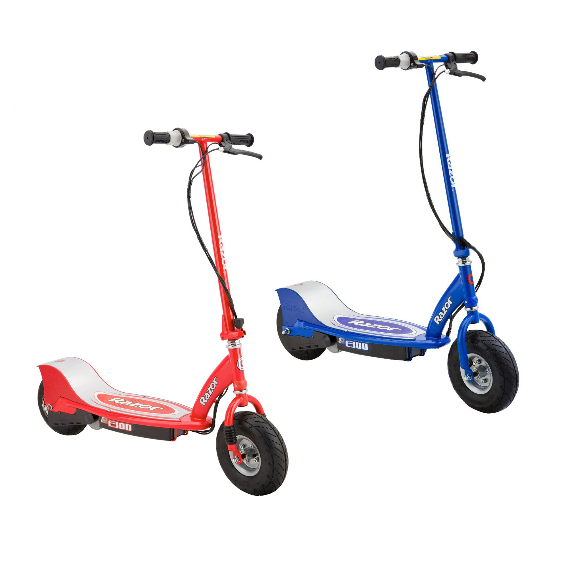 Razor E300 Rechargeable Electric Motorized Ride On Kids Scooters, 1 Red & 1 Blue by Razor