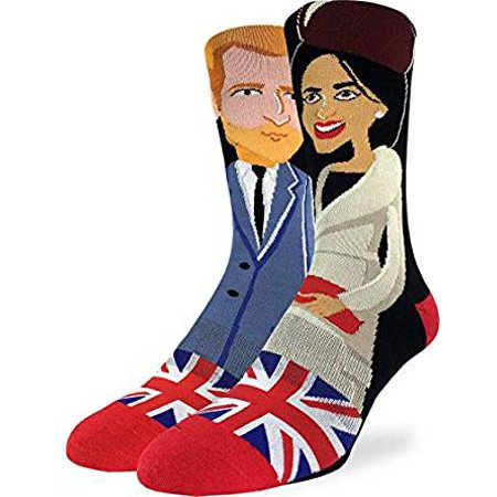 Socks - Good Luck Sock - Men's Active Fit - Prince Harry & Meghan Markle (8-13) 4185 - image 1 of 1
