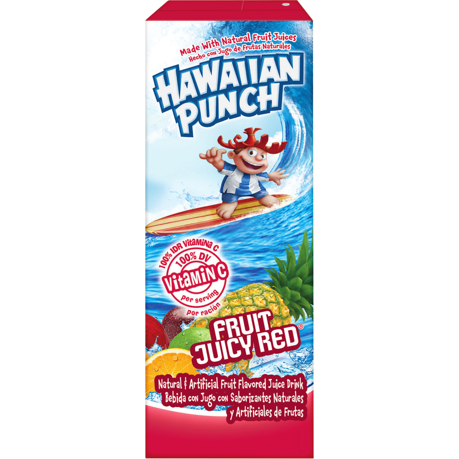 (24 Juice Boxes) Hawaiian Punch Fruit Juicy Red, 6.75 Fl Oz