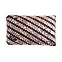 ZIPIT Metallic Jumbo Pencil Case, Rose Gold