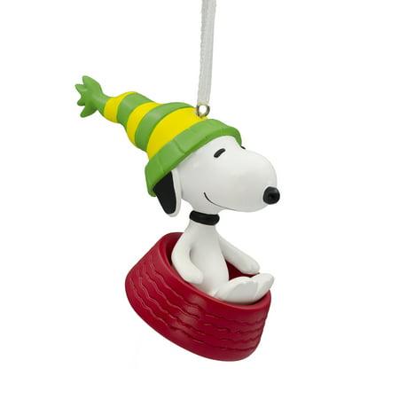 Hallmark Peanuts - Hallmark Peanuts Snoopy Sledding in Dog Bowl Christmas Ornament