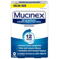 Mucinex 12-Hour Chest Congestion Expectorant Tablets - 80 Tablets (Walmart Exclusive)