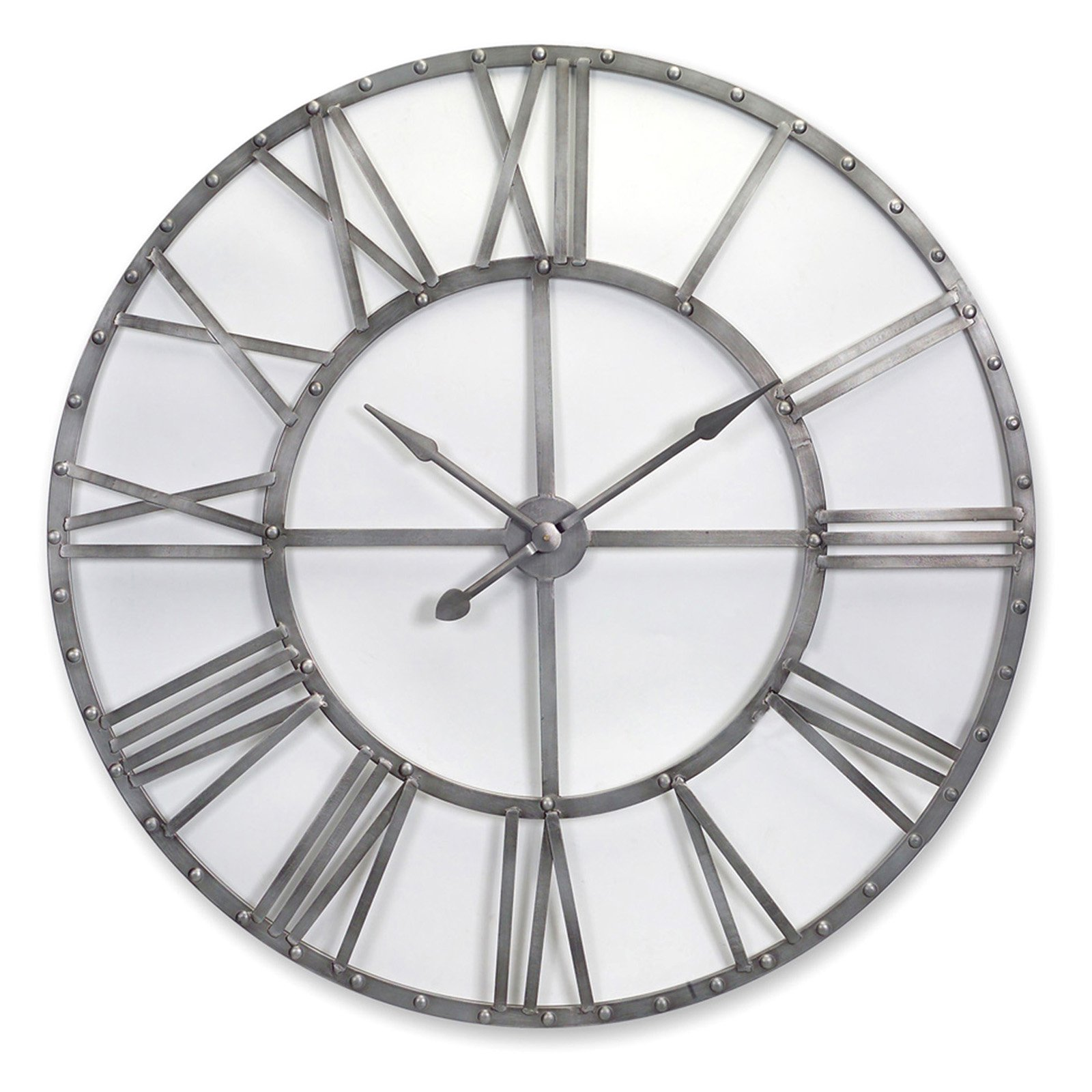 Melrose International Oversized Metal Wall Clock