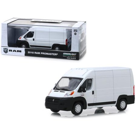2018 Dodge Ram ProMaster 2500 Cargo Van High Roof Bright White 1/43 Diecast Model by Greenlight