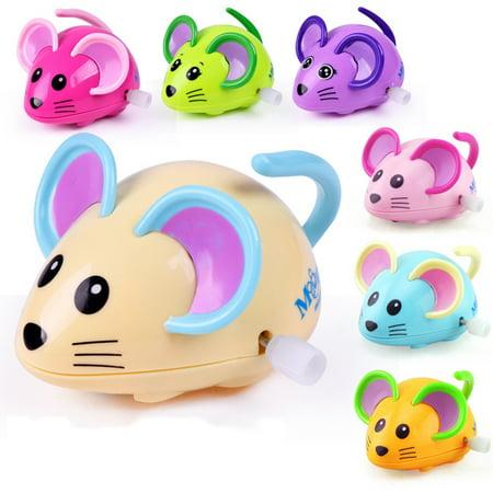 A Cartoon Rat (HiCoup Cute Cartoon Animal Rat Wind Up Toy Running Clockwork Mouse Baby Kids)