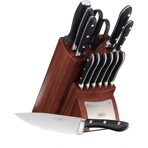 Better Homes and Gardens 14-Piece Forged Cutlery Block Set