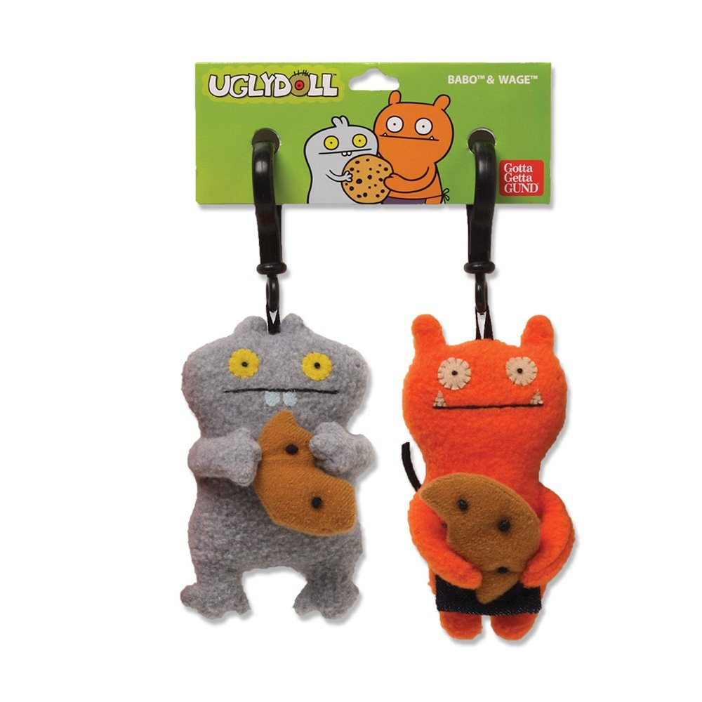 "Ugly Dolls 5"" Plush Clip-On: Best Friends Babo & Wage"