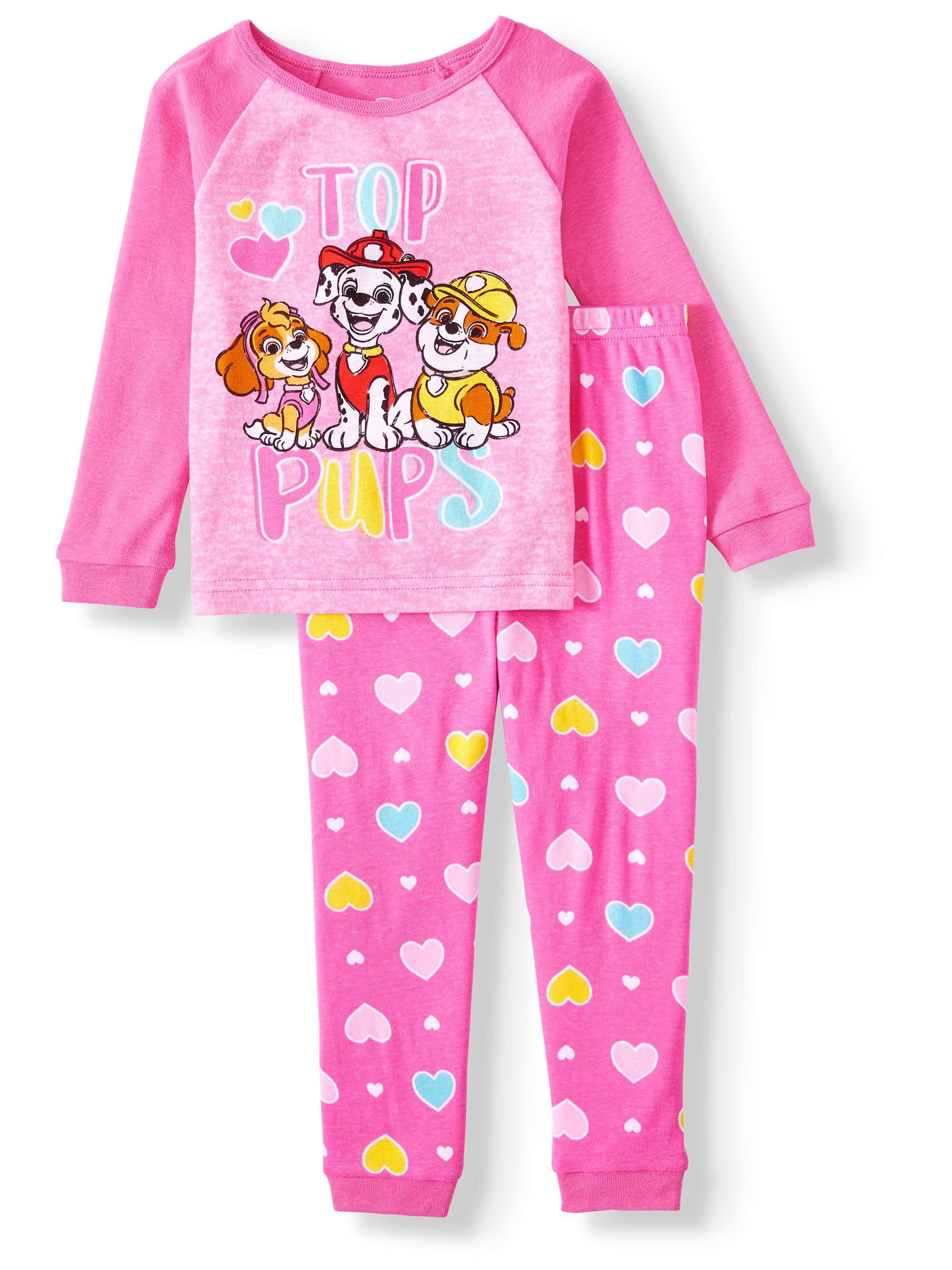 Peanuts Girls Toddler 4 Piece Cotton Pajama Set