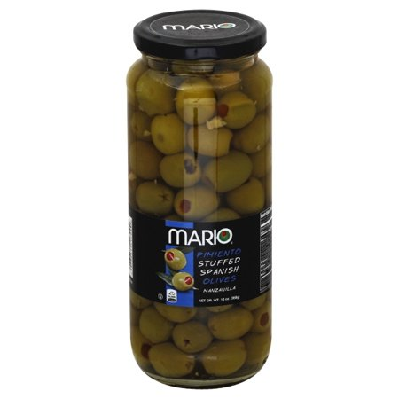 Mario® Pimiento Stuffed Spanish Manzanilla Olives 13 oz. Jar