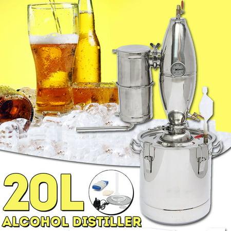 20/30L/50L 5/8/13 Gal Gallon Wine Water Alcohol Beer Distiller Stainless  Copper Moonshine Still Home Equipment Distilling Boiler Machine Maker Brew