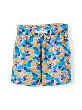 e9ec478ef1 Product Image Azul Boys Purple Blue Lily Pond Print Drawstring Swim Shorts