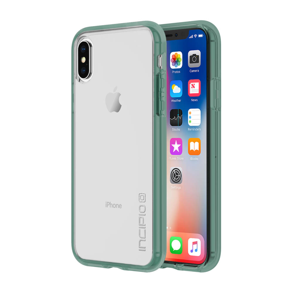 Incipio Octane Pure iPhone X Case with Shock-Absorbing Bumper and Clear Back Shell for iPhone X -