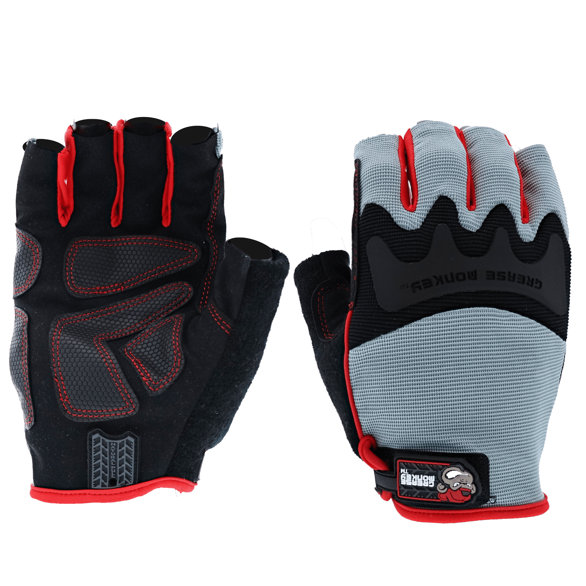 Grease Monkey Pro Fingerless all purpose work gloves and workout gloves