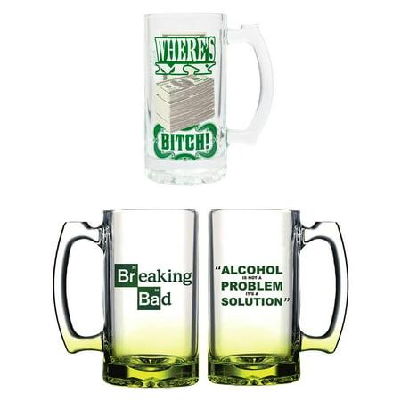 Breaking Bad Beer Mug Bundle, Set of 2 - Inflatable Beer Mug
