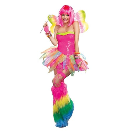 Dreamgirl Women's Rainbow Fairy Costume, Multi, Medium - Rainbow Fairy Costumes