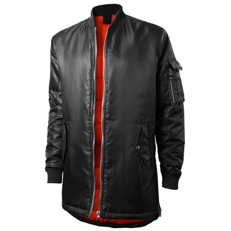 Mens Quilted Bomber Jacket Hip Hop
