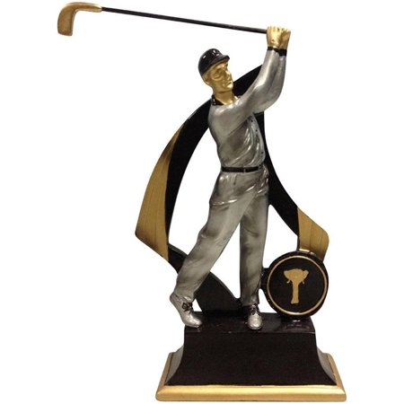 Golfer Award (Lightahead Polystone Man Golfer 6 inch Men Golf Statue Award Trophy Gift House Decor with Separate Name Plate to Write On. )