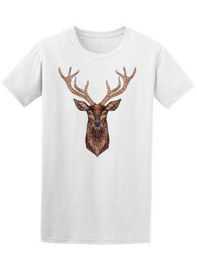 Deer Head Stylized In Zendoodle Tee Men's -Image by Shutterstock