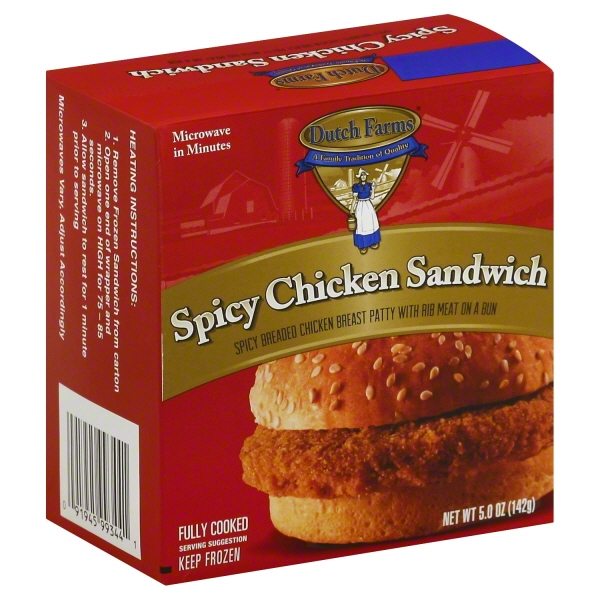 Dutch Farms Spicy Chicken Sandwich, 5 Oz.