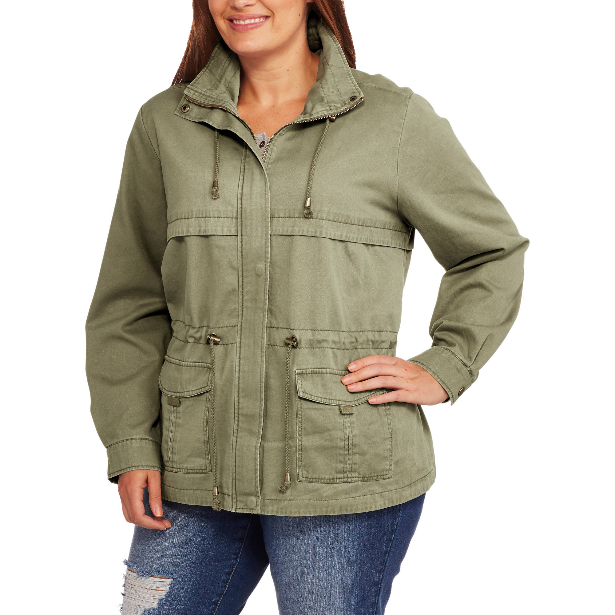Maxwell Studio Women's Plus-Size Twill Anorak Jacket