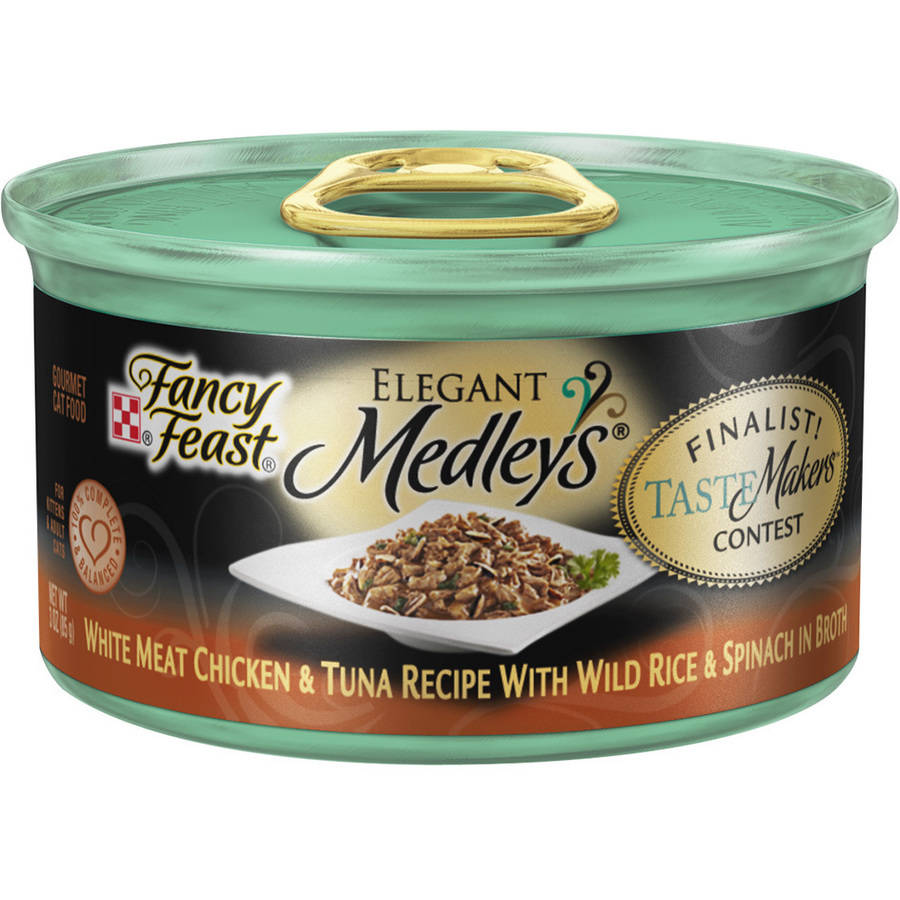 Purina Fancy Feast Elegant Medleys White Meat Chicken and Tuna Recipe Cat Food, 3 oz Can