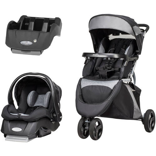 Evenflo Advanced SensorSafe Epic Travel System, with BONUS Car Seat Base