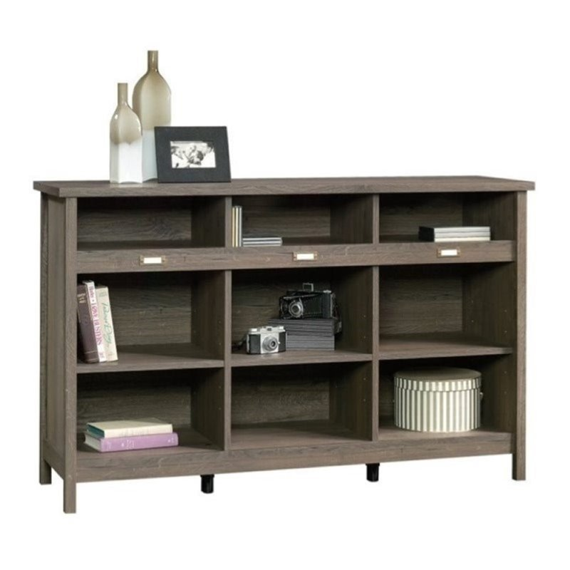 Bowery Hill 9 Cubby Bookcase in Fossil Oak