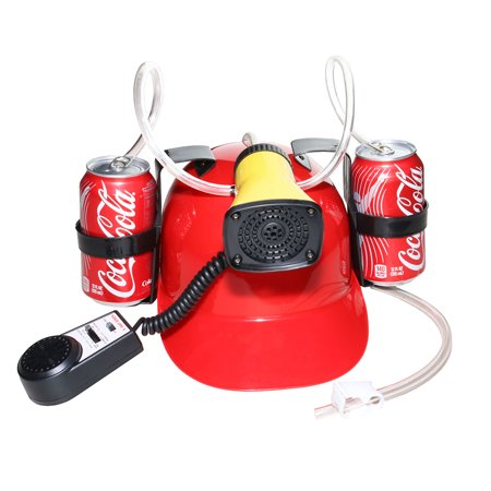 Beer Cola Soda Helmet Hard Hat Can Holder Drink Night Party Game w/ Siren 7 Different