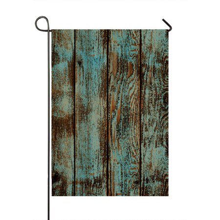 GCKG Wood Printed Garden Flag,Vintage Rustic Old Barn Wood Printed Home Outdoor Garden Flag House Banner 12x18 inch - image 1 de 1
