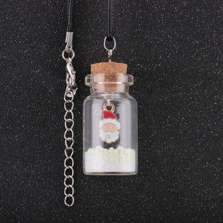 Luminous Christmas Tree Seat Glass Bottle Pendant Necklace for Women Gifts - image 1 of 6