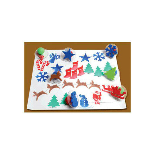 Center Enterprises Inc Giant Christmas Stamps (Set of 10)