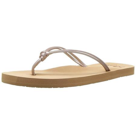 Roxy Kids' Rg Lahaina Flip Flop Sandals Flat, Rose Gold, Size 13 M Us Little - Roxy Golden Track