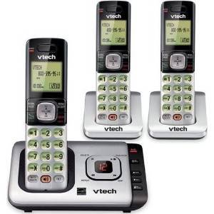 Refurbished Vtech 3 Handset Cordless Telephone with Answer System by