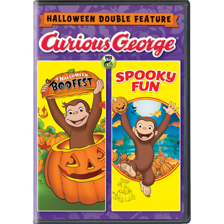 Curious George: Halloween Double Feature (DVD)](Popular Cartoon Halloween Movies)