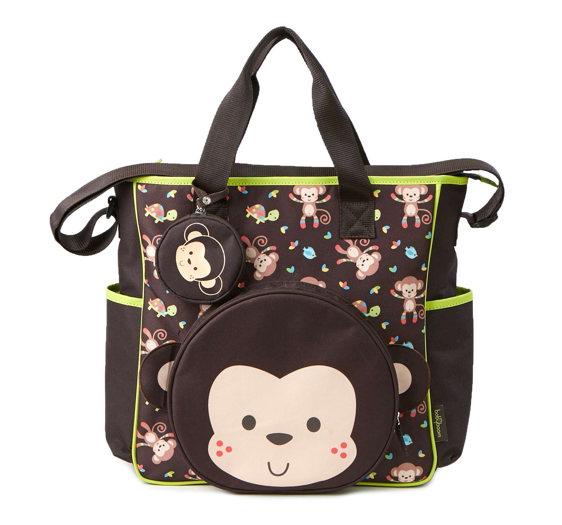 Baby Boom Monkey Applique Tote Diaper Bag by Baby Boom