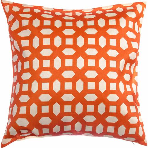 "Softline Alexia 20"" x 20"" Decorative Pillow, Tangerine"
