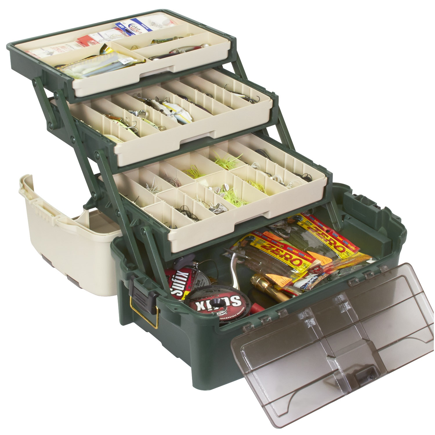 Click here to buy Plano Tackle Systems Hybrid Hip 3 Tray Box by Plano.