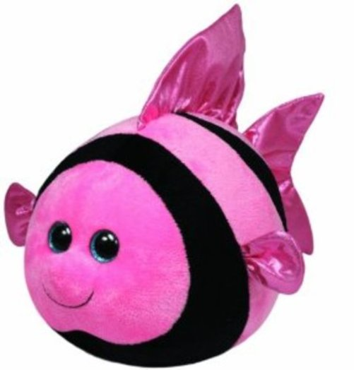 Ty Beanie Ballz Gilly Angelfish Plush Multi-Colored