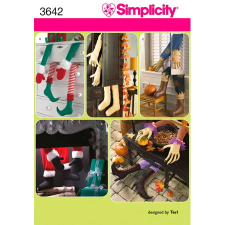 Simplicity Sewing Pattern 3642 Crafts, One Size, Crafts in size os (one size) simplicity pattern 3642 By Simplicity Creative Group Inc Patterns From USA