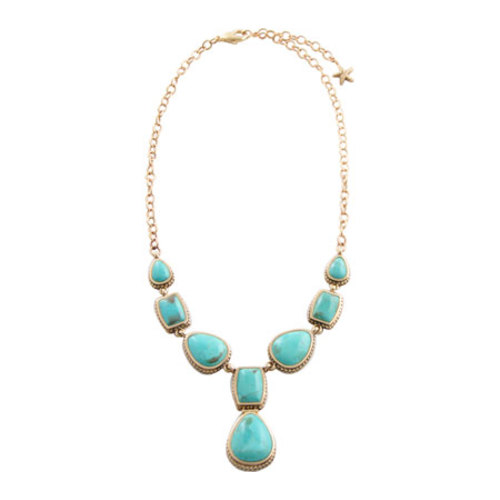 Women's Barse Bronze/Genuine Turquoise Necklace SN6942T01B